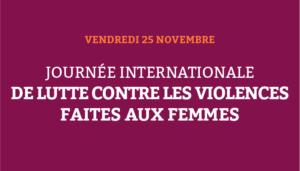 Journée de lutte contre les violences faites aux femmes